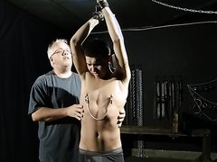 twink boy flogged part 1   part 2 is breath control and pegging on cross na