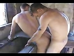 Lads smoking and barebackin in disused building