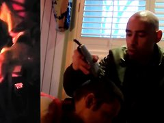 Skinhead intitation - haed shave