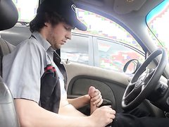 On Break In His Car
