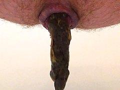 Close up medium soft log shit
