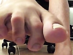 Dirty male soles in your face