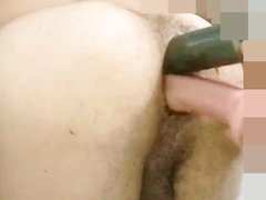 MY ASS TURNED PUSSY / ANAL DOUBLE DILDO AMATEUR - video 8