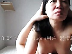 Chinese Aunt MILF having a great time