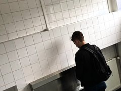 Young student pissing #002