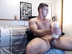 Hot fit alpha gives his fleshlight a nice fucking