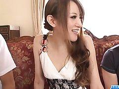 Excellent threesome alng superb Mai Shirosaki  - More at j....net