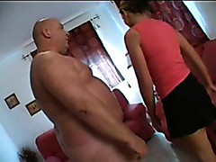 Bald dude smells farts from a tight asshole