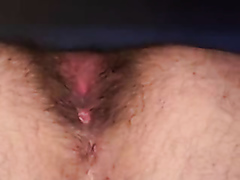 Licking and drilling an asshole in a closeup