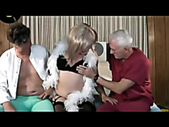 Mature threesome with hardcore anal drilling action