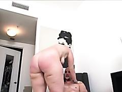 Huge ass brunette riding a big dick