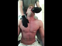 forced dildo gagging and puking