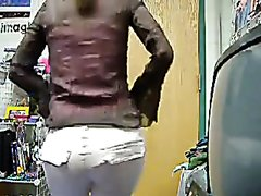 College girl pees in her dorm