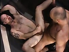 Sexy masculine prison guards fuck with stud inmate