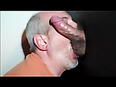 Gray-haired guy giving mean head