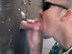 Sucking dick with the sun glasses on