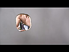 Glory hole action ending with hardcore anal sex