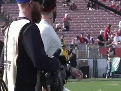 Baker Mayfield warm up