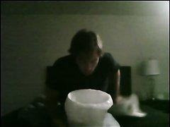 Guy puking - video 3