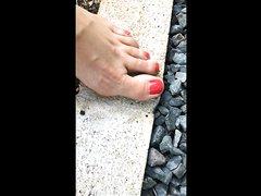 Milf Ant Crush Barefoot