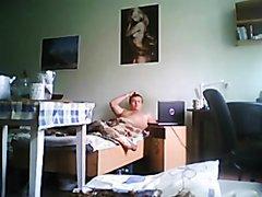 Spy Roommate Jerking Off