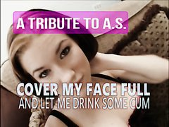 Tribute to AS - a cum covered beauty