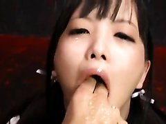 Asian girl forced to puke