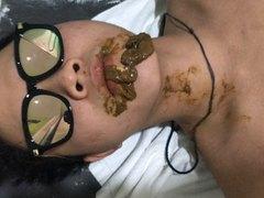 Asian jock master feeding submissive