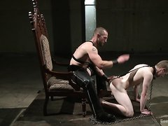 Mr Herst torments and fucks slave #860 locked in chastity