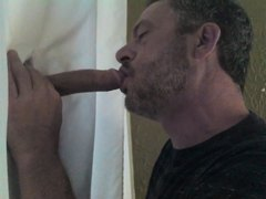 A thorough gloryhole blowjob