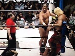 Pro wrestling face trample