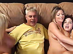 Hardcore interracial group fun on the sofa