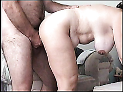Chubby wife getting nailed hard doggy style