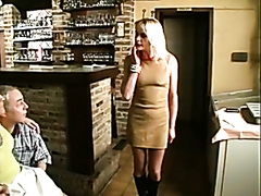 Milf gets busy with a couple of mature guys