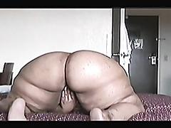 Mature BBW masturbates and gets drilled