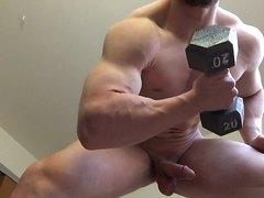 Hunk man workout