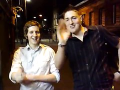 Jim + Evan outside the Meze in Newport (part 1)