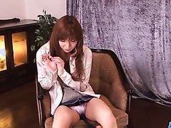 Amazing masturbation show along hot Serina Hayakawa  - More at j....net