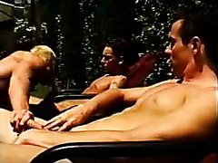 Kurt young,s threesome in the garden