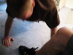 shoe socks feet slave