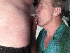 Cocksucking Fag Neal Blosmen Gets a Cum Facial