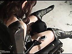 Keeping slave until she satisfied.