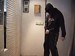 Masked scally jerking and groping