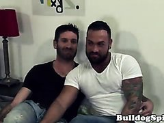 Inked UK gays assfucking and spilling cum