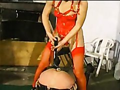 French sissy anal objects insertion