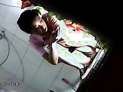 Girl poop in public toilet 39