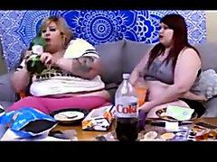 two bbw slobs burping
