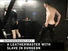 A Leathermaster with Slave in Dungeon
