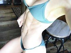 ... scheer flexing abs #2