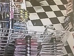 Girl pees on floor at store